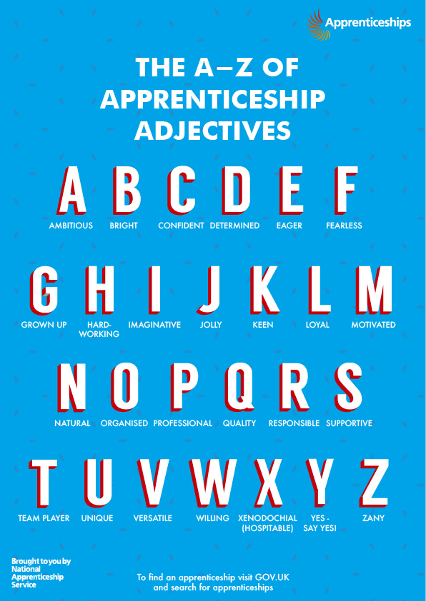 A-Z of Apprenticeship Adjectives