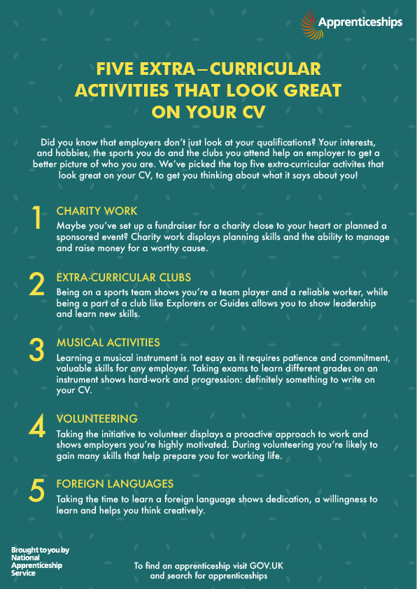 5 Extra-curricular activities that look great on your CV