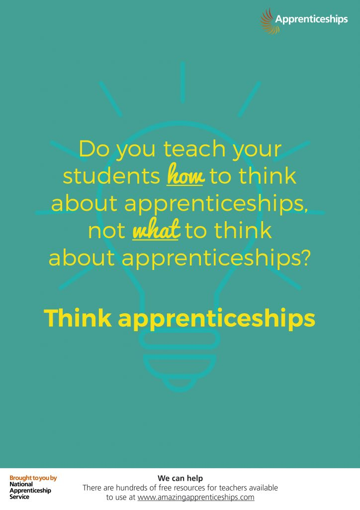 Think apprenticeships – Staff room poster #2