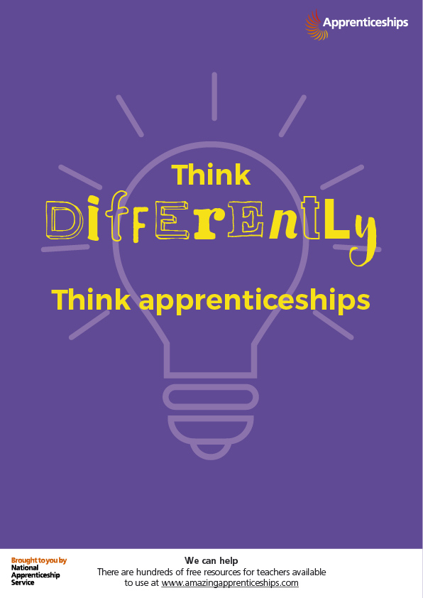 Think apprenticeships – Staff room poster #4