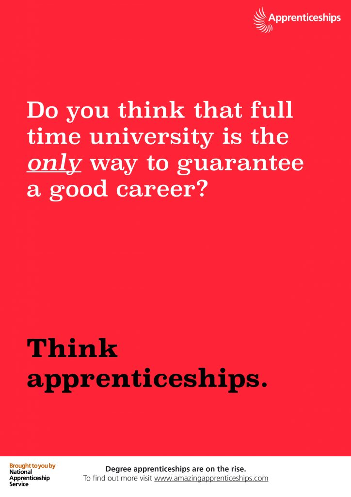 Think apprenticeships – Staff room poster #1