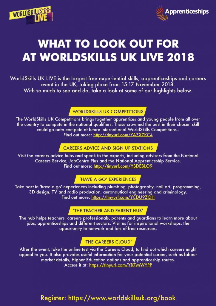 What to look out for at WorldSkills UK Live 2018