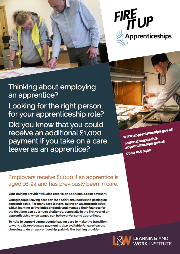 Care leavers flyer – employer