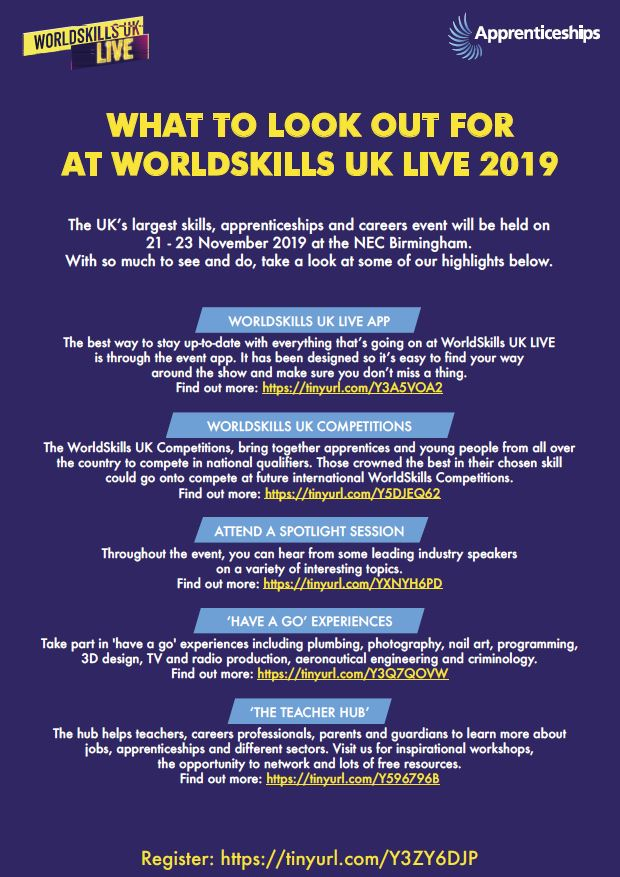 What to look out for at Worldskills UK Live 2019