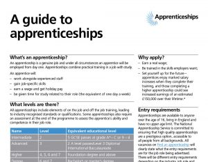 A guide to apprenticeships
