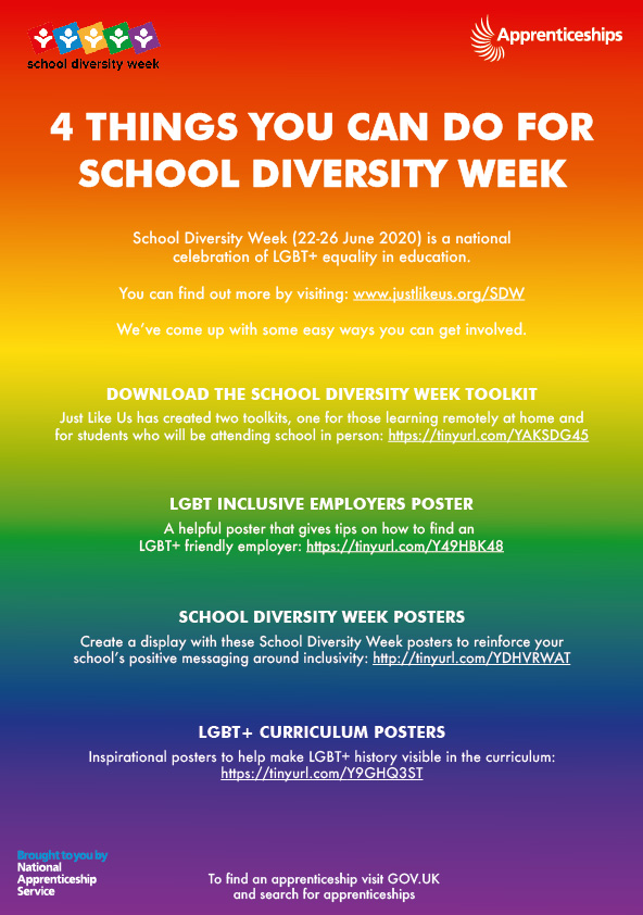 4 things you can do for School Diversity Week