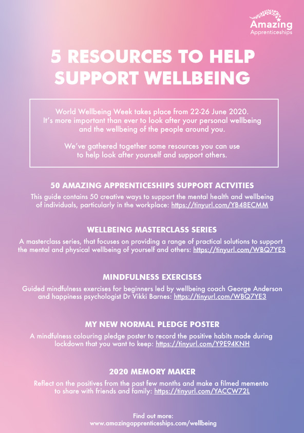 5 resources to help support Wellbeing