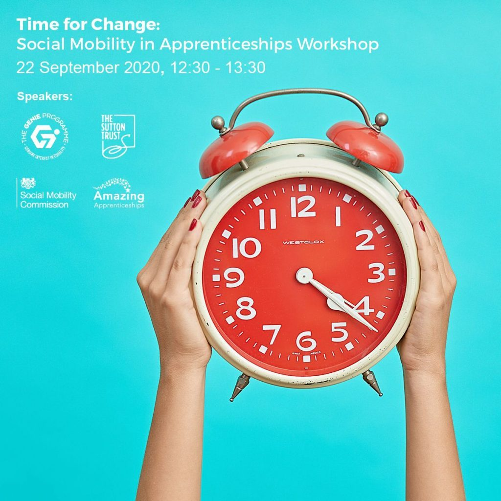 Time For Change: Social Mobility In Apprenticeships Workshop Recording