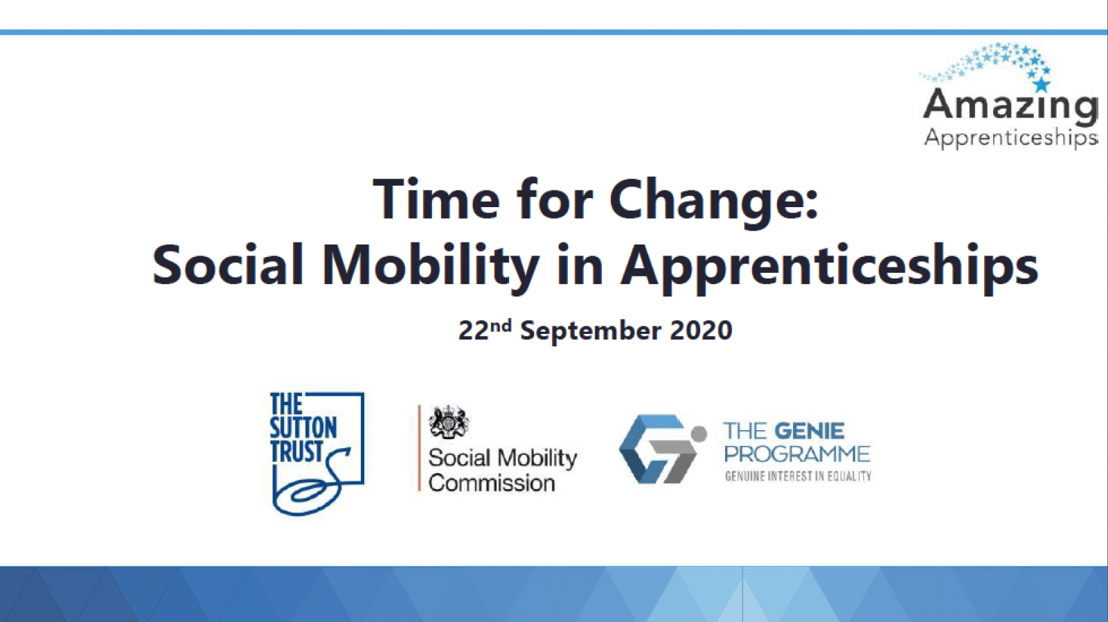 Time for Change: Social Mobility in Apprenticeships workshop slides