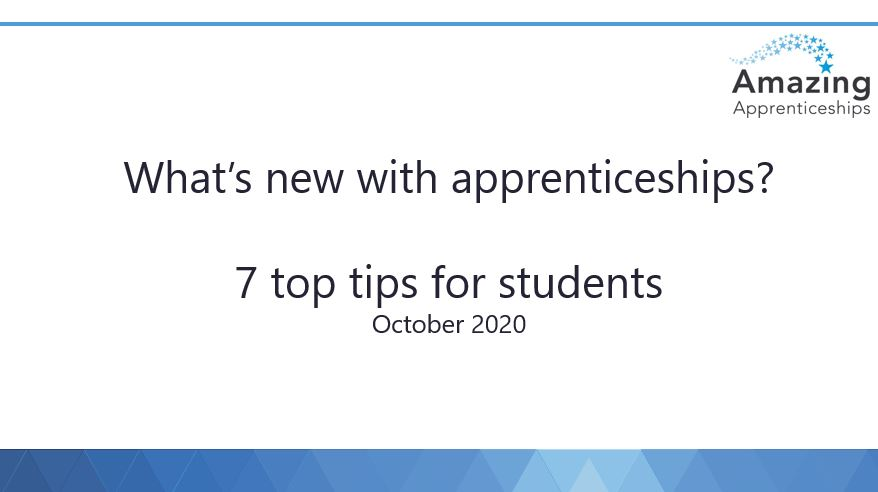 What's New With Apprenticeships?
