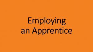 Employing an apprentice