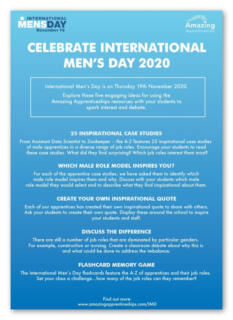 International Men's Day Activity Poster