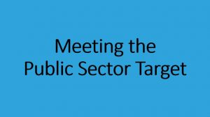 Meeting the public sector target