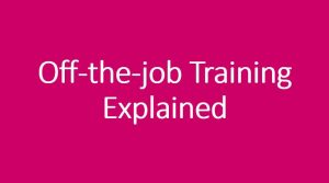 Off-the-job training explained