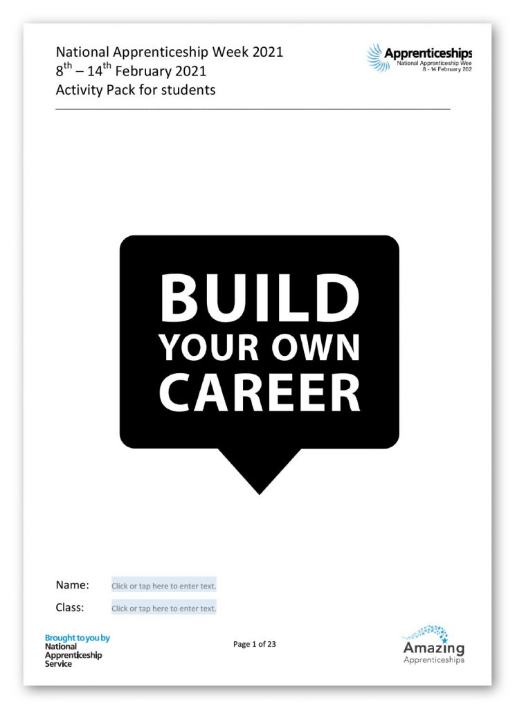 NAW2021 – Apprenticeship Activity Pack
