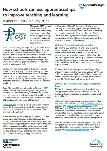 Plymouth Cast Workforce Case Study