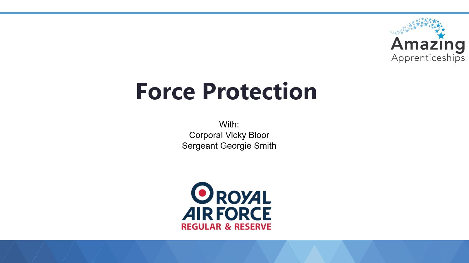RAF No room for clichés webinar slides – Force Protection