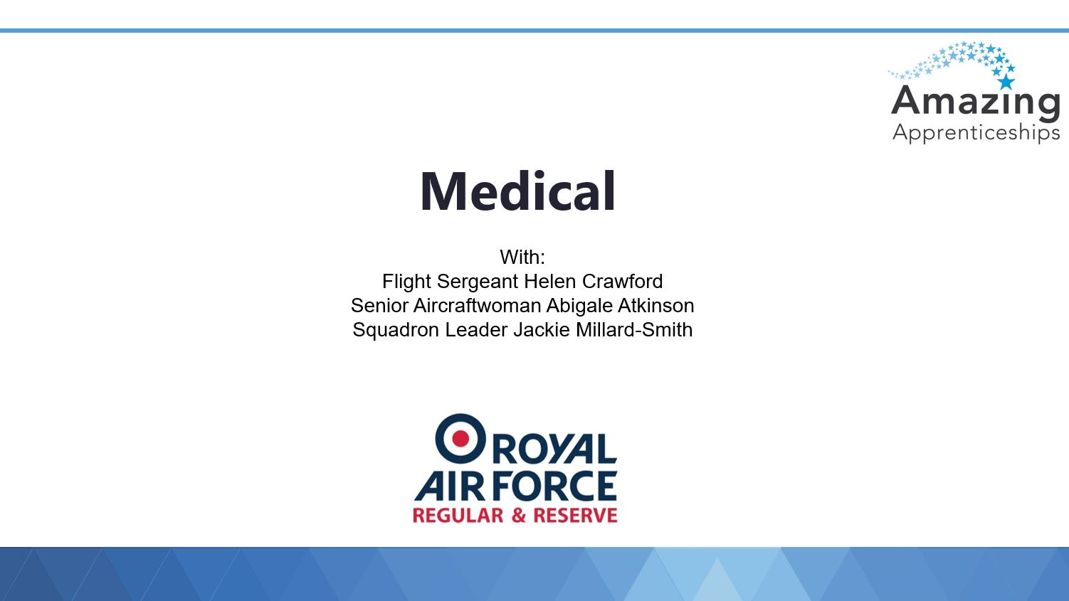 RAF No room for clichés webinar slides – Medical