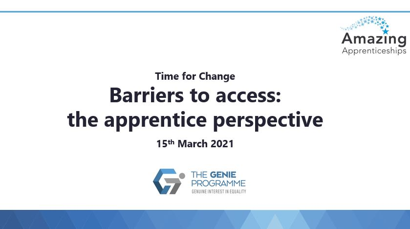 Time For Change: Barriers to Access, The Apprentice Perspective Slides